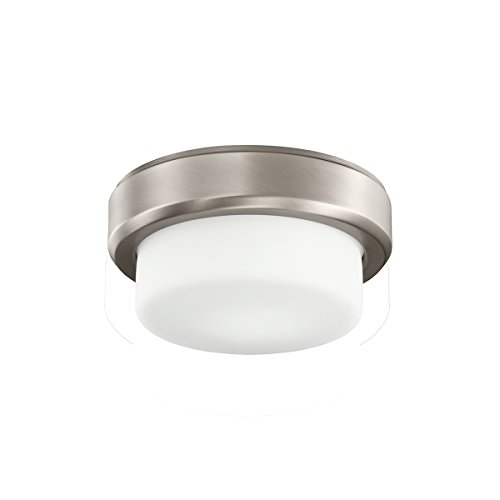 Kichler Lighting 380046AP Arkwright 1-Light CFL Ceiling Fan Light Fixture with  White Glass, Antique Pewter Finish