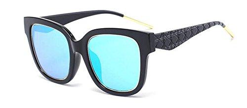 Lennon en métallique rond du retro Bleu lunettes Film polarisées vintage inspirées style soleil cercle de wWWBRqz8