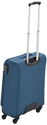 Samsonite Base Hits Spinner 55/20 Cabin Luggage, 55 cm, 39 L, Steel Blue - luggage
