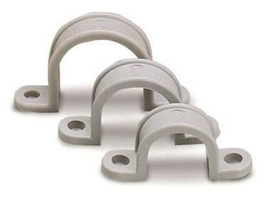 Strap Hole Pipe (Gardner Bender GCC-120 1/2-Inch Two Hole Plastic Straps, Grey, 20-Pack)