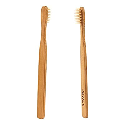 12-Pack Natural Bamboo Toothbrushes - Durable and Eco-Friendly Wooden Handles with FDA approved and BPA-Free Nylon Bristles for Natural Dental Care – 7.5 Inches Long