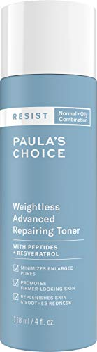Paula's Choice RESIST Weightless Advanced Repairing Toner | Niacinamide & Hyaluronic Acid | Wrinkles & Large Pores | Oily Skin | 4 Ounce