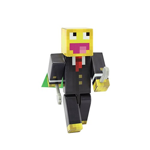 Minecraft Costume Mod Popularmmos (Smiley Meme Action Figure Toy, 4 Inch Custom Series Figurines by EnderToys)
