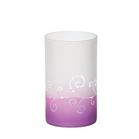 10 x 10 x 15 cm gefrostet lila Yankee Candle Tea Light Holder