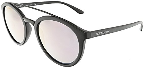 38157fcc38 Giorgio Armani Mirrored AR8083-50425R-52 Black Oval Sunglasses