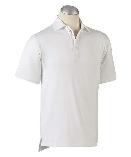 - Bobby Jones Short Sleve XH2O Performance Jersey Solid (White, XXL)