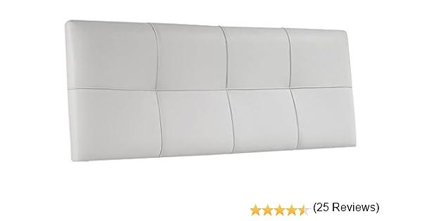 Adec - Cabezal polipiel 160 square, medidas 160 x 4 x 55 cm, color blanco: Amazon.es: Hogar