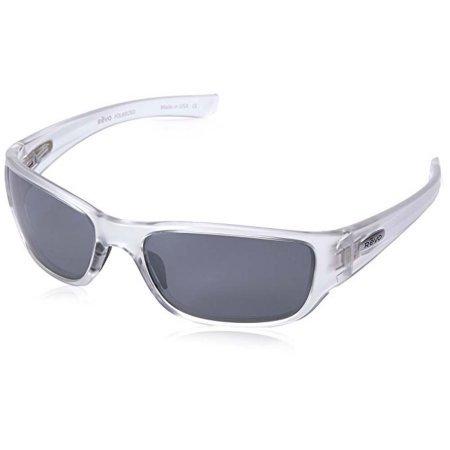 Revo Unisex RE 4058X Mason Wraparound Polarized UV Protection Sunglasses Wrap, Crystal Frame, Graphite Lens