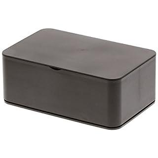 Yamazaki Home Smart Wet Tissue Case – Wipe Dispenser Storage Box Container, One Size, Brown