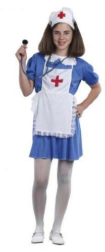 128b6ff452b Childrens Nurse Girls Nurses Fancy Dress Costume Outfit, Large (Age: 9-12)