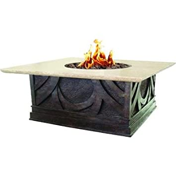 Elegant Bond 66598 Avila Gas Fire Table, 20 Pound