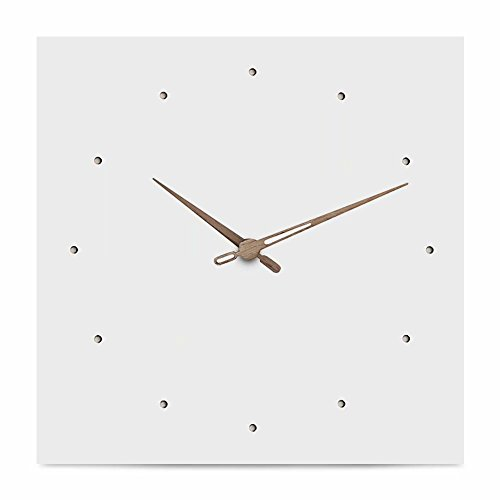 FlorLife Extra Large Decorative Wall Clock Silent & Non-Ticking Quartz Sweep Clock, Giant White Vintage Square Clock Without Numbers AA Battery Clock