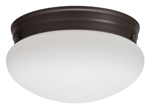 Lithonia Lighting 10976 BZ M2 Mushroom Flush Mount Ceiling Light, Bronze - Mushroom Flush Mount Ceiling Fixture
