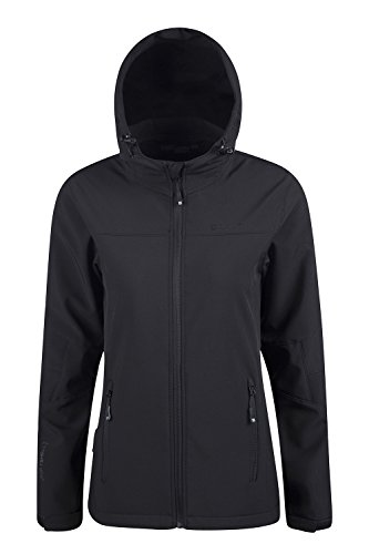 Mountain Warehouse Exodus Womens Softshell Jacket - Cycling Shell Black 10