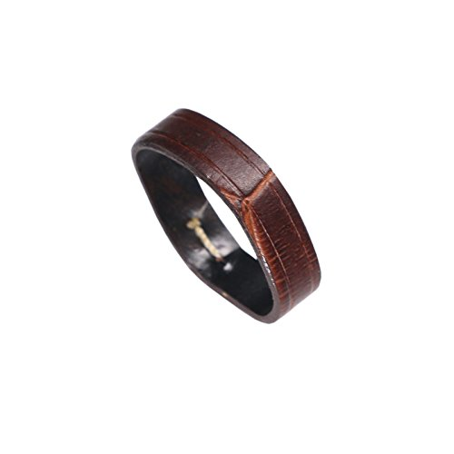 Premium Calf Hide Leather Watch Strap Loop Band Holder Change Crocodile Grain in Brown 22mm