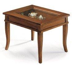 Lo Scrigno Arredamenti Tavolino quadrato da salotto Classico con vetro W1016//L
