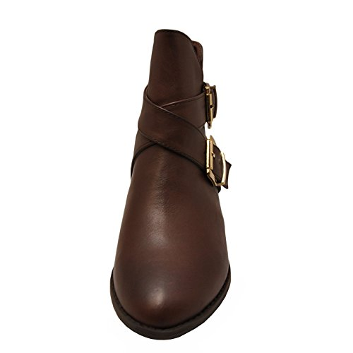 Bamboo Charm 09 Casual Cut Out Ankle Booties Brown TJNfs