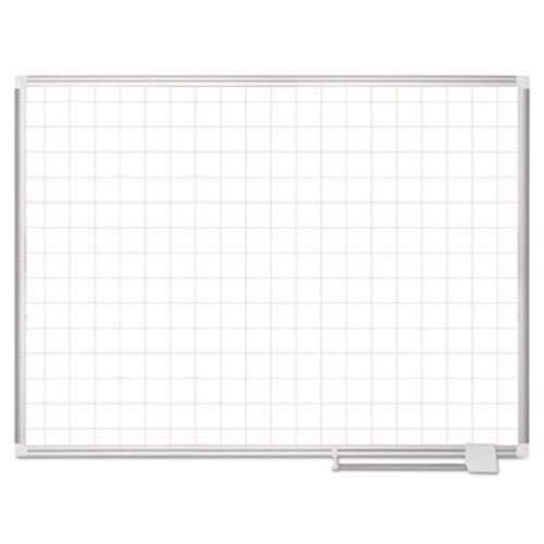 MasterVision CR0895830 Platinum Plus Magnetic Porcelain Dry Erase Board 48 x 36 Aluminum, 2 x 2 Grid ()