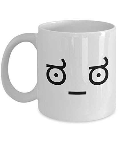 Look of Disapproval Meme ಠ_ಠ - Funny and Sarcastic Text Face Emoji Gift - Kaomoji - Unique Coffee Mug - AIE Inspirations