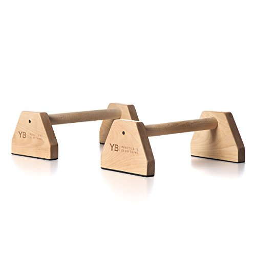YOGABODY Birch Wood Parallettes (Set of 2) | Beautiful, Smooth, Non-Slip Yoga & Gymnastic Training Tool for L-Sits, Lolasana, Handstand Pushups, Jump Backs & More by YOGABODY (Image #7)