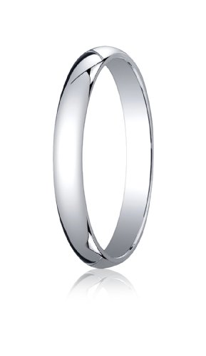 Womens 18K White Gold, 3.0mm Traditional Dome Oval Ring (sz 5) ()