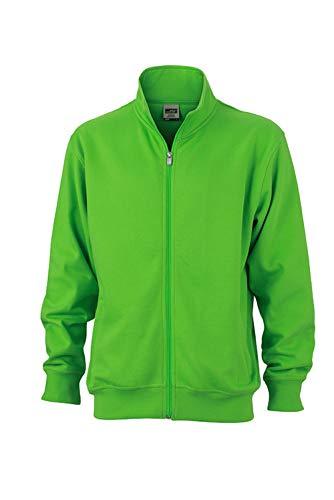Chiusura Colletto Jacket green Felpa Workwear Giacca Alla Sweat Coreana In Lampo Lime Con E fw0fqgUxtn