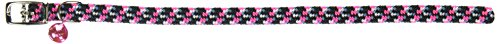 (Coastal Pet Products CCP7721NPK Li'l Pals Elasticized Reflective Adjustable Kitten Safety Collar with Bells, Neon Pink)