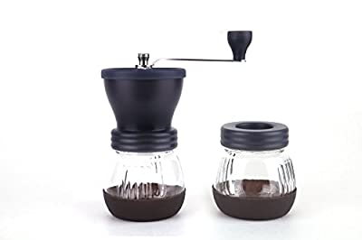 CoastLine Ceramic Burr Manual Coffee Grinder | Hand Crank Coffee Grinder for Espresso Coffee Bean Grinder for Use as Travel Coffee Grinder or Home Coffee Grinder