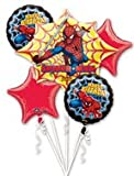 Spiderman Balloon Bouquet - Spider Man Balloons - 5 Count