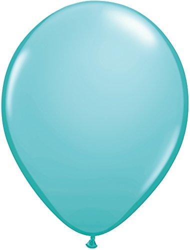 Qualatex 50322 Latex Balloons, Caribbean Blue, 11-Inch, Pack of 100 ()