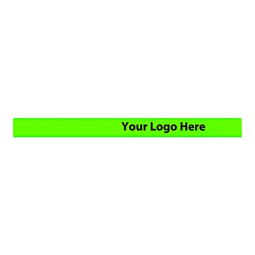 "(Personalized Custom Carpenter Pencils - 500 Quantity - $0.37 Each - Bulk Promotional Product Branded with Your Logo / Customized. Imprint area is up to 5-1/2"")"