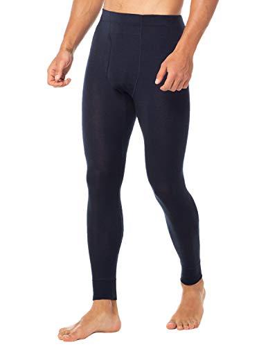 LAPASA Men's 100% Merino Wool Thermal Underwear Pants Long John Leggings Base Layer Bottom M30 (Small, Navy)