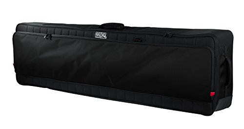 Gator Cases Pro-Go Ultimate Keyboard Gig Bag with Removable Backpack Straps; Fits Slim Extra Long 88-Note Keyboards (G-PG-88SLIMXL) by Gator