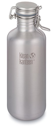 Klean Kanteen 64 Ounce Stainless Steel Growler in Brushed Stainless with Swing Lok Cap