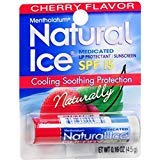 Mentholatum Natural Ice Lip Balm Cherry SPF 15 1 Each Pack of 12