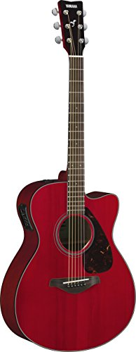 Yamaha FSX800C Small Body Solid Top Cutaway Acoustic-Electric Guitar, Ruby (Ash Acoustic Electric Guitar)