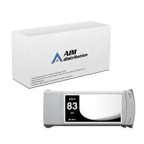 AIM Compatible Replacement for HP NO. 83 UV Pigment Black Inkjet (680 ML) (C4940A) - Generic