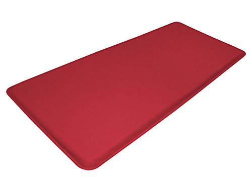 "GelPro Medical Anti Fatigue Mat: Standing Anti-Fatigue Floor Mat - Non Slip Heavy Duty Professional Mats - Ergonomic, Antimicrobial & Antibacterial Cushioned Comfort Pad - 20"" x 48"" - DND Red by GelPro"