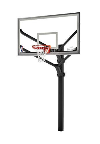 Spalding NBA Arena View H Frame In-Ground Basketball System - 72' Aluminum H Framed Acrylic Backboard