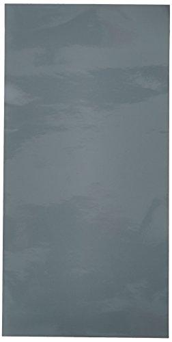 "Vinyl Ease 6"" x 12"" 24 Sheets Glossy Grey Permanent Adhesive"