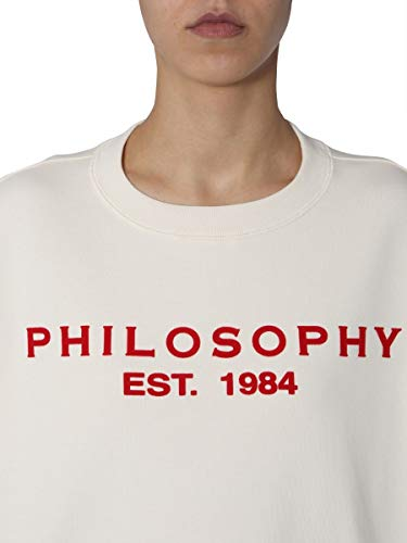 Mujer Philosophy Sudadera A170107470004 Algodon Blanco aqAH8nP