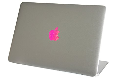 Pink Sparkles Macbook Air Logo Color Changer Vinyl Sticker Decal Mac Apple Laptop Shiny Sparkly Glitter