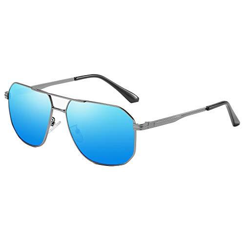 Vintage Polarized Aviator Sunglasses Square for Men Women Retro Sunglasses Downey Iron Man Sunglasses Mirror Lens