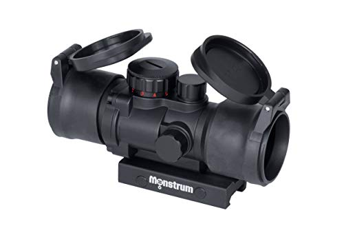 Monstrum S330P 3X Prism Scope | Black with Flip-Up Lens