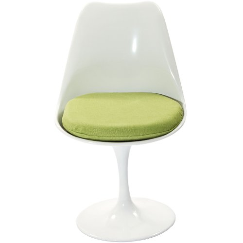 (Modway Lippa Modern Dining Side Chair With Fabric Cushion in Green )