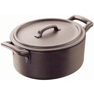 Revol 642111 Casserole Dish with Lid Porcelain 13.5 x 12.2 x 8 cm Black