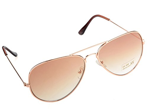MU-Outlets New Small Classic Aviator Sunglasses 50mm Aviators Gold/Brown