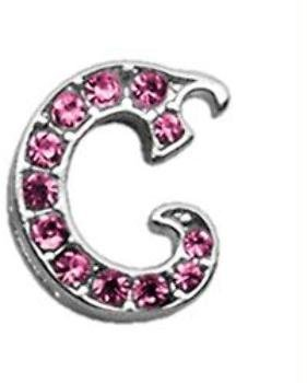 3/8'' Pink Script Letter Sliding Charms C . Case Pack 48 3/8'' Pink Script Le... by DSD