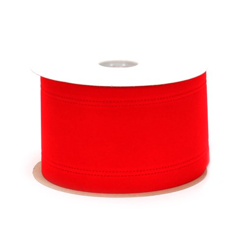 Berwick Wired Edge Veltex Flocked Poly Craft Ribbon, 4-Inch Wide by 20-Yard Spool, Red Wire Ribbon Spool