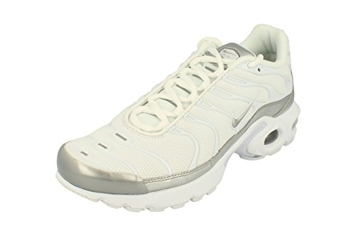 Nike Boys' Air Max Plus (Gs) Running Shoes White/Silver